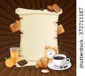 breakfast background with... | Shutterstock .eps vector #372711187