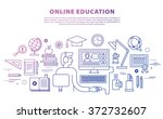 online education concept in