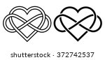Intertwined Heart with The Sign of Infinity. Love forever