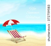 summer vacation background.... | Shutterstock .eps vector #372759583