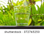 glass of water  put on the... | Shutterstock . vector #372765253