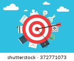concept of success and business.... | Shutterstock .eps vector #372771073