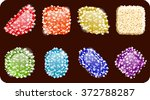 colorful candy in sugar. vector ...