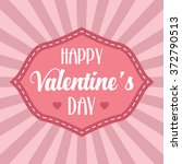 vintage valentine's day...   Shutterstock .eps vector #372790513