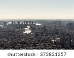 tokyo skyline view from a high...