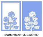 isolated blue hydrangea flower...   Shutterstock .eps vector #372830707