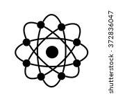 atom structure vector symbol of ... | Shutterstock .eps vector #372836047