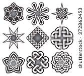 set of logo templates in celtic ... | Shutterstock .eps vector #372862453