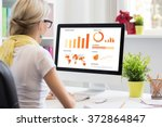 creative woman working with... | Shutterstock . vector #372864847