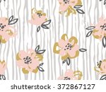 seamless pattern with pink and... | Shutterstock .eps vector #372867127