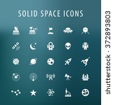 set of 25 universal space icons.... | Shutterstock .eps vector #372893803