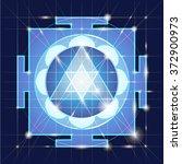 ganapati yantra   cosmic... | Shutterstock .eps vector #372900973