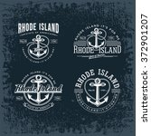 rhode island four stylized... | Shutterstock .eps vector #372901207