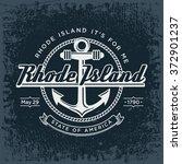 rhode island round stylized...   Shutterstock .eps vector #372901237