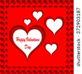 happy valentines day card | Shutterstock .eps vector #372903187