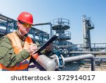 engineer writing on the paper...   Shutterstock . vector #372914017