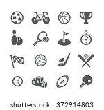 sports icons    utility series | Shutterstock .eps vector #372914803