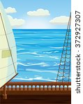 deck of a sailboat with the...   Shutterstock .eps vector #372927307