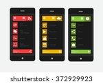 smart phones interface vector...