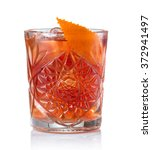 classic negroni cocktail... | Shutterstock . vector #372941497
