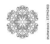 ornate mandala. gothic lace... | Shutterstock . vector #372942403