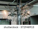 holder with wine glasses to the ...   Shutterstock . vector #372948913