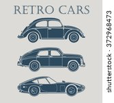 vintage car vector illustrations | Shutterstock .eps vector #372968473