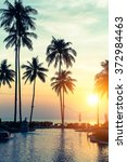 tropical beach at amazing... | Shutterstock . vector #372984463