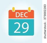 colorful calendar icon   dec 29 | Shutterstock .eps vector #373002283