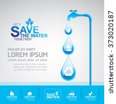 save water vector concept... | Shutterstock .eps vector #373020187