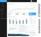 admin dashboard template design | Shutterstock .eps vector #373030423