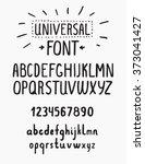 line simple font. universal... | Shutterstock .eps vector #373041427