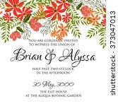 wedding invitation with... | Shutterstock .eps vector #373047013