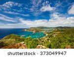 view of english harbor in... | Shutterstock . vector #373049947