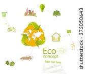 environmentally friendly world. ... | Shutterstock .eps vector #373050643