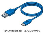 a usb  universal serial bus ... | Shutterstock .eps vector #373069993