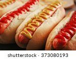 hot dogs closeup | Shutterstock . vector #373080193