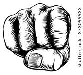 an original design of a fist... | Shutterstock .eps vector #373099933
