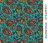 paisley. paisley pattern.... | Shutterstock .eps vector #373109317