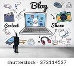 blog homepage content social... | Shutterstock . vector #373114537