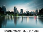 business district cityscape... | Shutterstock . vector #373114903