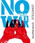no war. typographic retro... | Shutterstock .eps vector #373124437