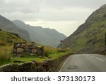 View Of The Mountain Valley In...