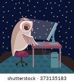 Vector Illustration. Owl...
