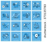 set of thin line concept icons... | Shutterstock .eps vector #373135783
