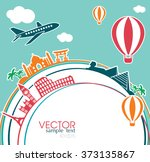 vector illustration of travel... | Shutterstock .eps vector #373135867