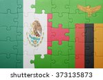 puzzle with the national flag... | Shutterstock . vector #373135873