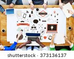 social media technology... | Shutterstock . vector #373136137