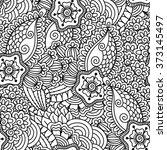 seamless black and white... | Shutterstock .eps vector #373145497