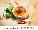 panang pork  savory curry paste ... | Shutterstock . vector #373149853